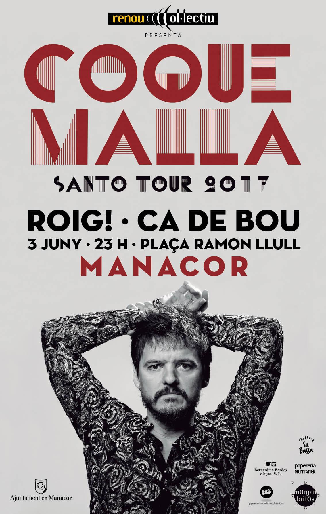 Cartell concert Coque Malla